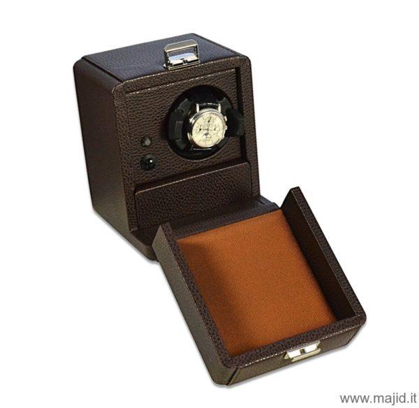 Scatola del tempo mod. 1RT OS colore cioccolato